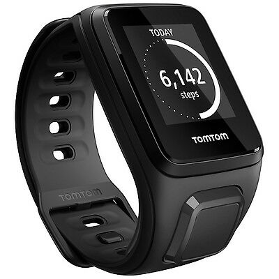TomTom Spark Music GPS Fitness Watch, Black Large