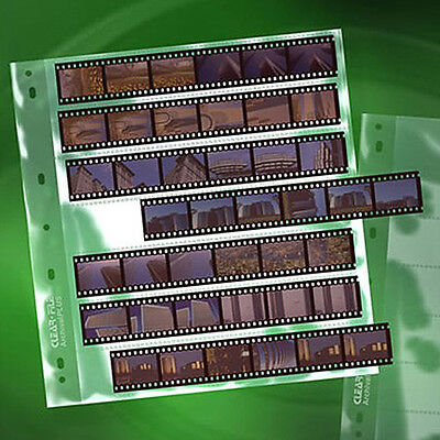 50x CLEAR FILE 135 35mm 7 strips Film Pages Sleeves Archival Storage  #14B i