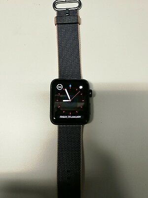 Apple Watch Series 2 42mm Space Grey Aluminum Case Black Sport Band - (MP062X/A)