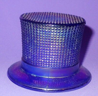 Vintage Aurora Jewels Blue Top Hat By Imperial Toothpick Match Holder 2.25""