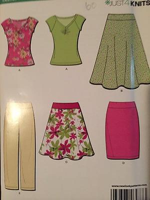 New Look Sewing Pattern 6977 Ladies Misses Skirts Pant Tops Size 6-16 Uncut