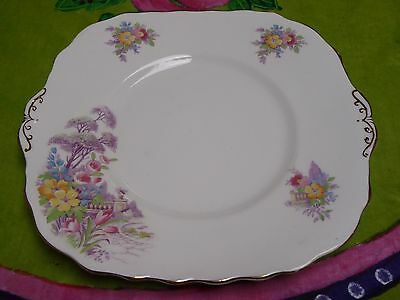 Vintage Colclough Cake Plate 1940s Very Pretty Floral English Quality china