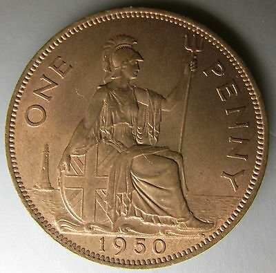 Great Britain, 1950 Copper Penny 1d, Choice!