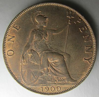 Great Britain, 1900 Copper Penny 1d, Choice!