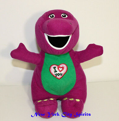 """Barney Plush Singing """" I Love You"""" Song 9 Inches"""