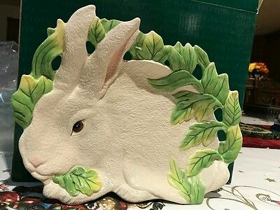 Fitz and Floyd Rabbit Canape Plate new in box