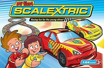 Micro Scalextric 1:64 Scale My First Racing Set slot cars electric remote