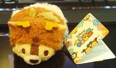 Chip Holiday Christmas Mini Tsum Plush Disney Store Japan 2016 New with Tags