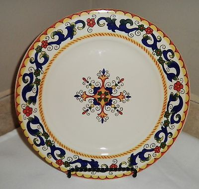 Fabrique Au Portugal 8.5 in. Portugal Plate Blue Yellow Green Red