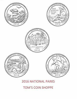 2016 National Park Quarters Complete P & D Set (10 Coins) ****in-Stock****