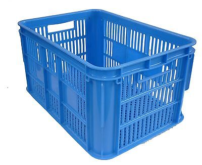 3 X Lug Box 65LT Plastic Storage Tubs Containers Strong Bin Crates Box 65L Fish