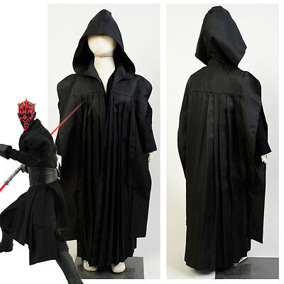 Star Wars Sith Lord Darth Maul Cosplay Costume Outfit Suit Kids Child Uniform