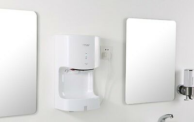 White Commercial Wall Mounted Infrared Automatic Induction Hand Dryer Machine
