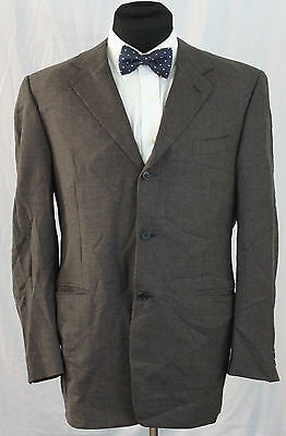 Canali 100% Wool 3 Button Sport Coat Size 42L Long Tall Made in Italy Blazer