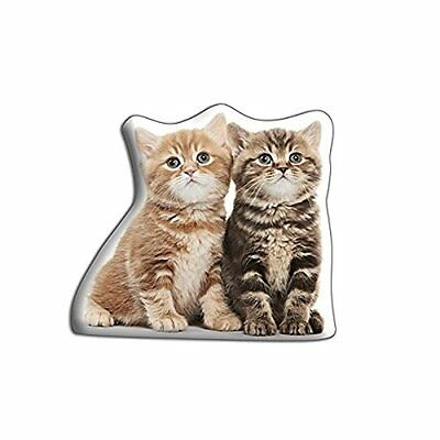 adorable Cushions Polyester satin drill/Velore Two Kittens a forma di cuscino
