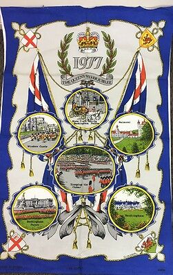 1977 The Queens Silver Jubilee Tea Towel Made In Britain