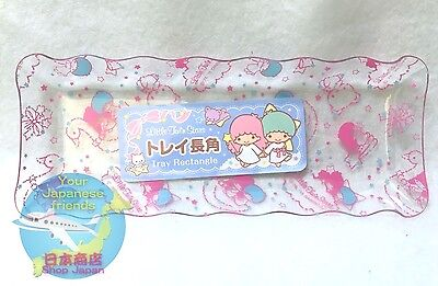 SANRIO Little Twin Stars KAWAII Long rectangle Clear Resin Tray AIRMAIL JAPAN