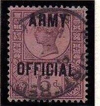 1901 Fine Used QV SGO45 6d Purple on Rose-red ARMY OFFICIAL Lovely