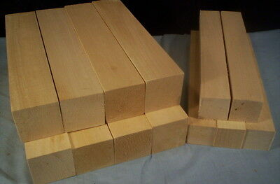 13 Piece Basswood  Carving Turning Lumber Hitty Doll