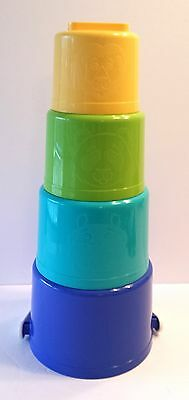 Lot of 4 Stackable Tupperware Pails kids Toys Childs Beach Sifters Tuppertoys