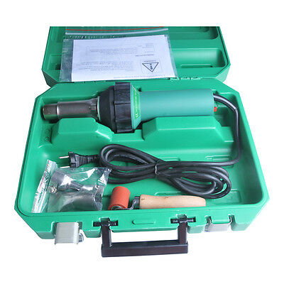 1600W Affordable Easy Grip Hand Held Plastic Hot Air Welding Gun + 2 Nozzles