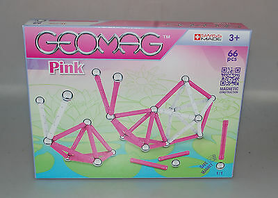 Geomag Pink 66 Teile Swiss Made Magnete  Neu & Ovp