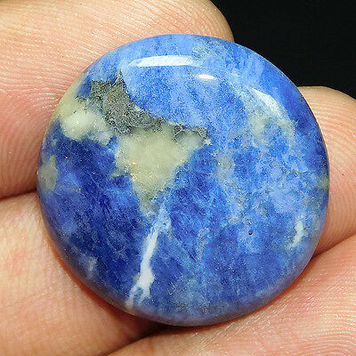 29.55Cts 100% NATURAL AWESOME SODALITE ROUND  26X26 CAB GEMSTONE UEM513