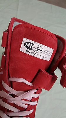Simpson Red Suede Racing High Top Boots Shoes Mens Size 11.0