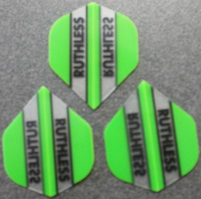10 Packets of Brand New Ruthless Extra Strong Darts Flights - Green