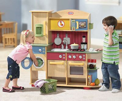 Little Tikes Cooking Creations Premium Wooden Kitchen, Role Play Toys, Pretend
