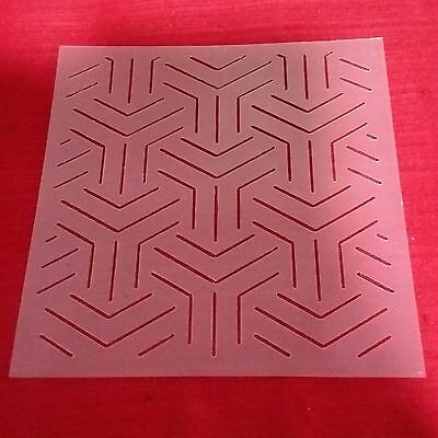 Y Quilt Template free motion Craft Drawing Ruler Stipple stitch sewing