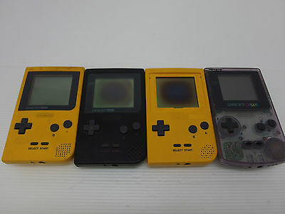 Nintendo Gameboy Colour Consoles systems Lot of 4 Untested As Is Japan Gameboy