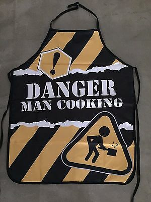 Danger Man Cooking Cook BBQ Chef Apron Party Novelty Dad Male Gift Rude Fun
