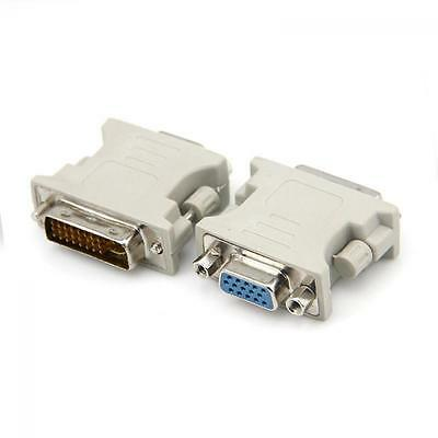 New DVI-I Male Analog 24+5 To VGA Female (15-pin) Connector Adapter Dual Link