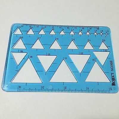 Triangle Template 2-36mm.Drawing ruler Pattern Draft Flowchart Draw ruler