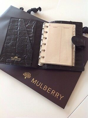 Mulberry Pocketbook In Black Nile Leather
