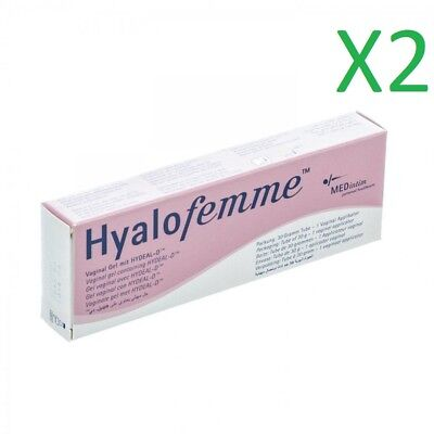 2 pack HyaloFemme Vaginal Gel against Dryness, Itching Irritation with Hydeal-D