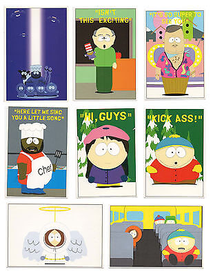 New Lot 8 pcs. South Park Comedy Central Post Card  Kenny cartoon collectible