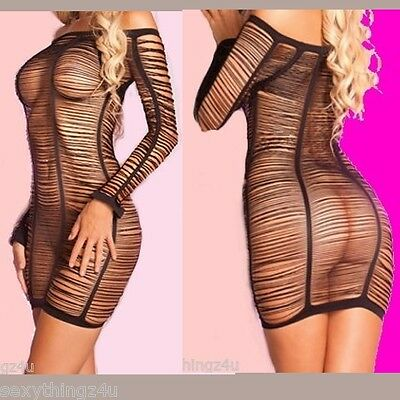 XXX STOCKING STYLE LINGERIE DRESS -As Shown- Choose size 6-8-10-12