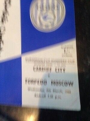 Cardiff City V Torpedo Moscow European Cup Winners Cup Quarter Finals Vgc March