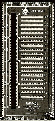 """Unisafe """"Superior Guage"""" Slotted METAL Perforation Perf Gauge - NEW! $2.99"""