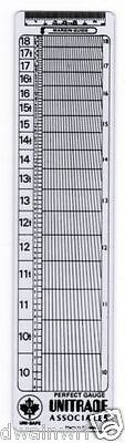 """Unisafe """"Perfect Guage"""" Perforation Perf Gauge - NEW!"""