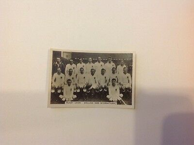 Rugby Union England 1935 Sporting Events and Stars Pattreiouex card No 24