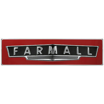"""NEW Farmall CASE IH Tractor LARGE Barn Farm Ag Embossed Sign 42"""" Steel GIFT BIG"""