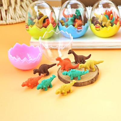 16PCS Cute Kids Gift Toy Children Dinosaur Egg Pencil Eraser Stationery Rubber
