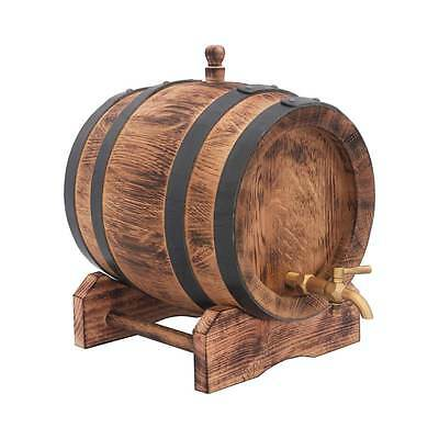 Oak Barrel 3Lt Port Keg Cask Age Alcohol Home Brew Wine Whisky Christmas Gift