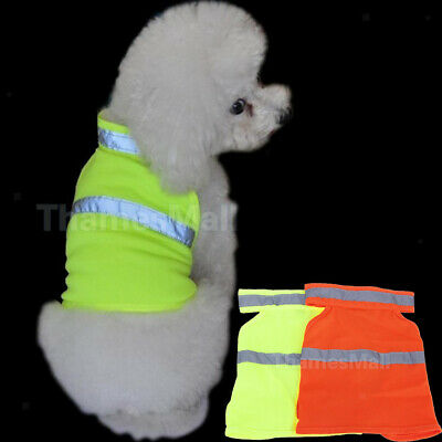 Pet Dog High Visibility Reflective Safety Vest Coat Clothes Apparel Size S-L