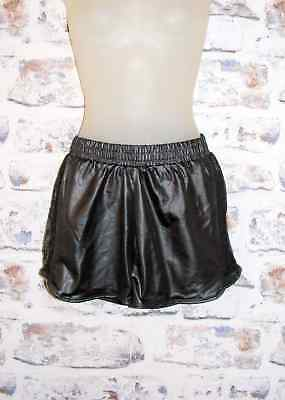 Size 8-10 vintage 80s style sprinter hotpant sports shorts mesh/wet look BNWOT