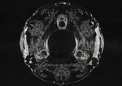 Heisey Orchid Etch Three Footed Candy Sauce Bowl