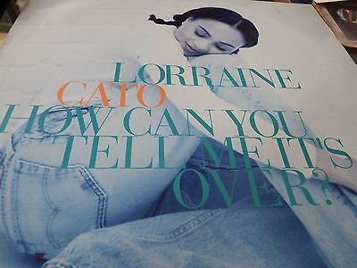 """Lorraine Cato - How Can You Tell Me It's Over? 12"""" Record - Columbia - 658766 6"""